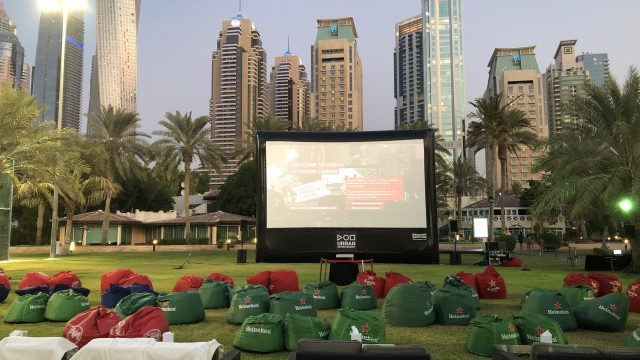 30ft-x-17ft Urban Outdoor Cinema Dubai