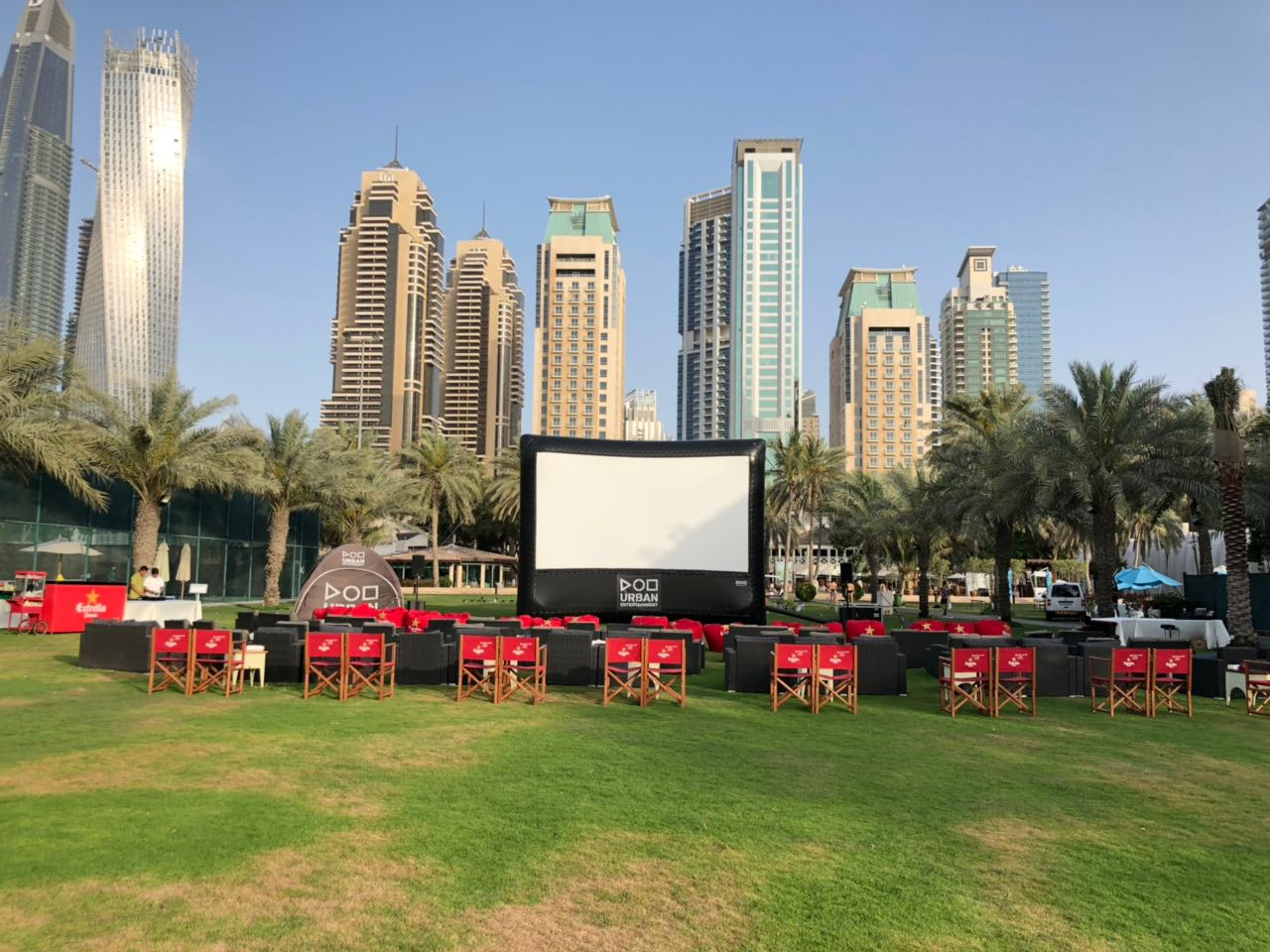 Outdoor Cinema Hire Dubai